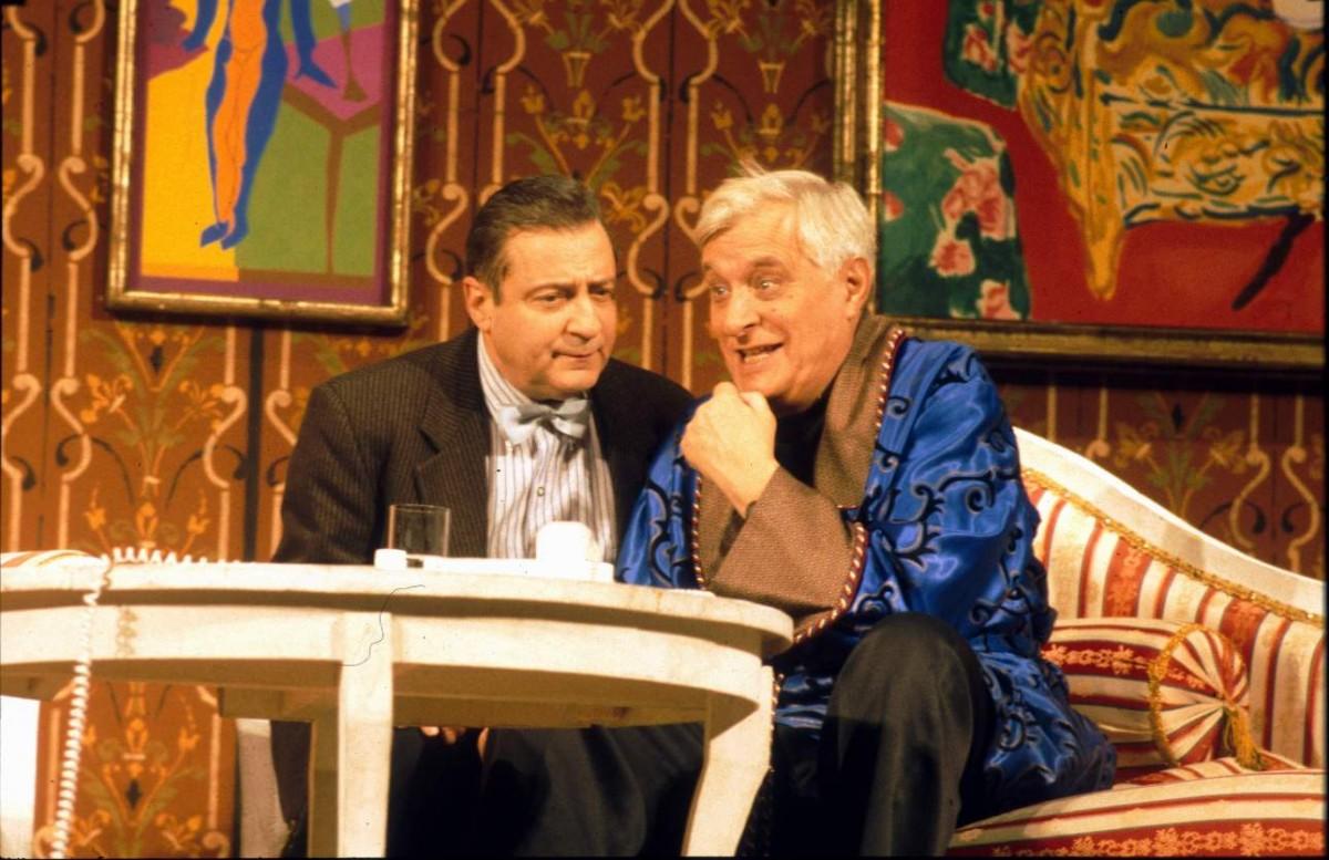 Геннадий Хазанов и Олег Басилашвили в спектакле Ужин с дураком