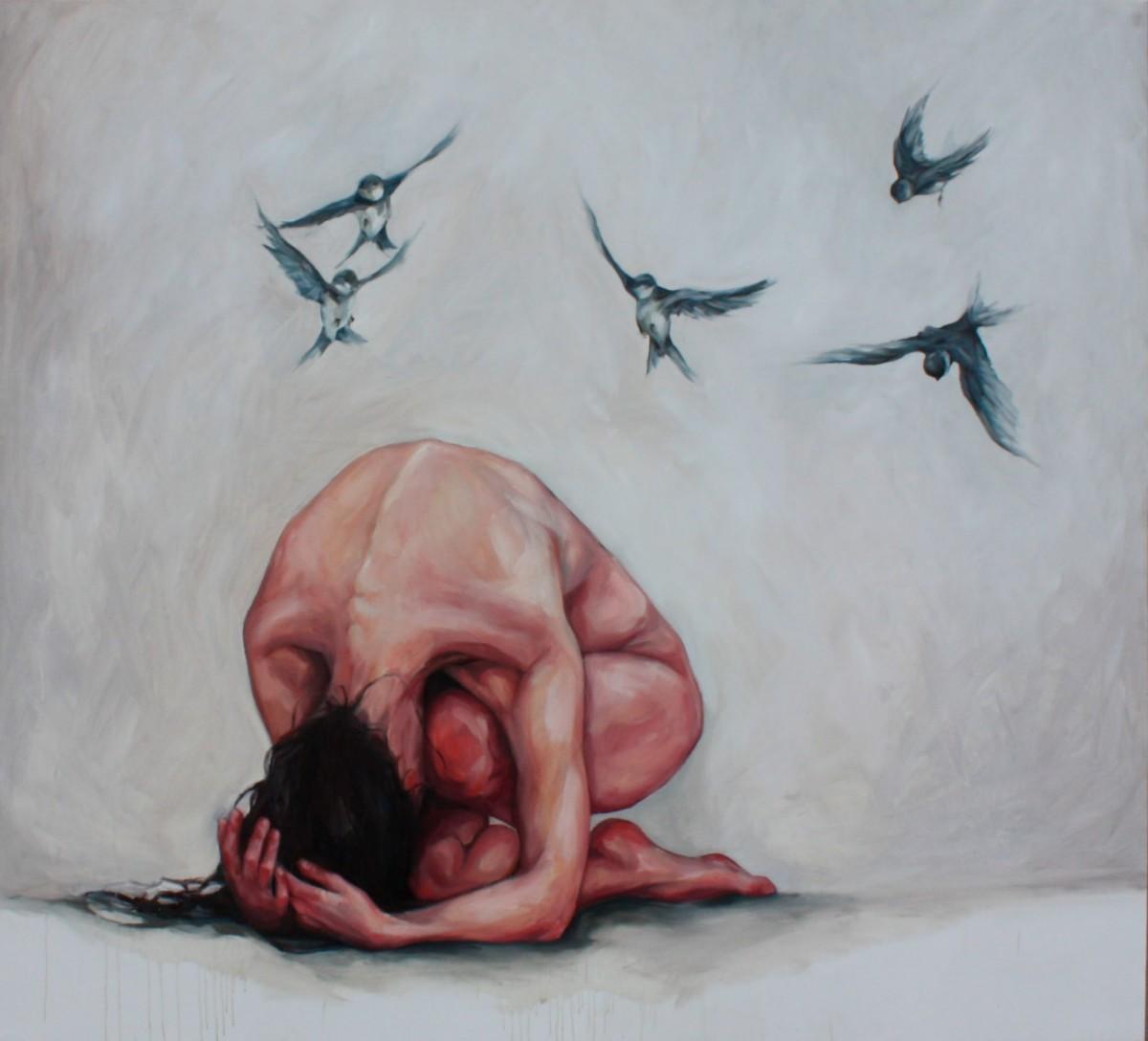 картины маслом - женское тело от annie veitch